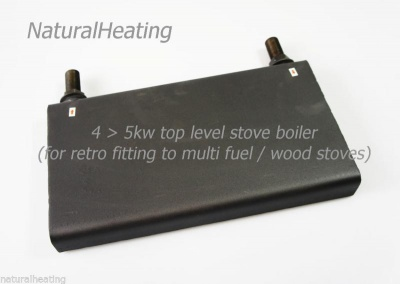 4 to 5kw Small Back Boiler for Multi Fuel / Wood Burning Stoves - Retro Fit