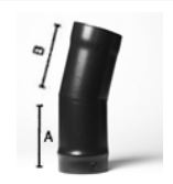 15 deg elbow bend - 5inch / 125mm dia - Vitreous Enamel Flue Pipe