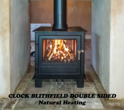 Clock Blithfield DOUBLE SIDED 10kw Wood Burning & Multi Fuel Stove