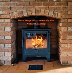 Dean Forge Dartmoor W5 WIDE Wood Burning Stove, 5kw - Eco 2022 BLACK HANDLE