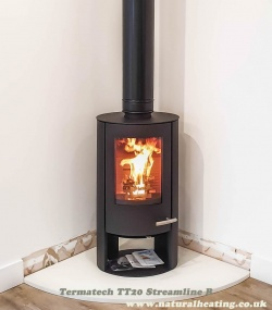 Termatech TT20 Streamline R - 5kw Wood Burning Stove - DEFRA approved, Eco Design 2022