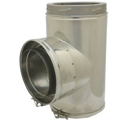 90 deg Tee incl. Cap - 6 inch / 150mm dia - Twin Wall Insulated Flue Pipe Eco ICID