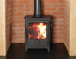 Dean Forge Dartmoor 5 Eco Design 2022 Wood Burning Stove, 5kw - Eco 2022 - Black Handle