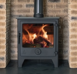 Dean Forge Dartmoor W5 WIDE Multi Fuel Stove, 5kw - Eco 2022 BLACK HANDLE