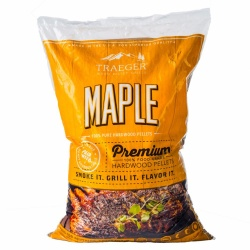 Traeger MAPLE Hardwood Pellets (20lb bag) for Wood Fired Pellet Grills / Smokers