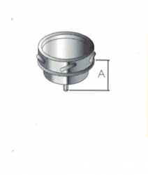 Tee Cap with Drain - 6 inch / 150mm dia - Twin Wall Insulated Flue Pipe Eco ICID