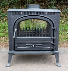 Windsor Double Sided Cast Iron Multi Fuel and Wood Burning Stove 16kw max (7 > 14kw to room)