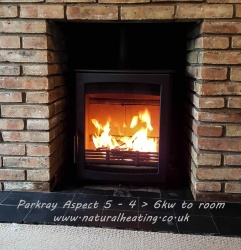 Parkray Aspect 5, 4.9kw nominal Wood Burning Stove - DEFRA Approved