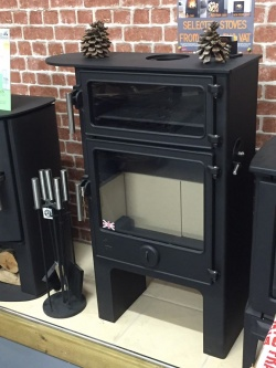 Dean Forge Baker W5 PLUS Wood Burning Stove - Stainless handles / extended Top - SALE - NEW / EX SHOP DISPLAY