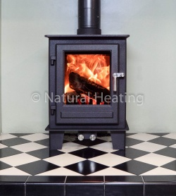Clock Blithfield Compact 5kw Wood Burning & Multi Fuel Stove