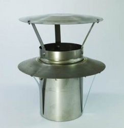 5 inch / 125mm Chimney Pot Hanger for Flexible Liner incl. Integrated Cowl / Rain Cap