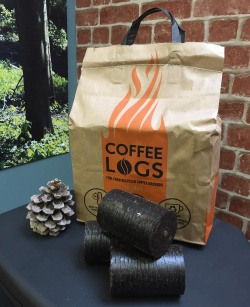 Coffee Logs (bag of 16) - approx 8kg - made from recycled coffee grounds