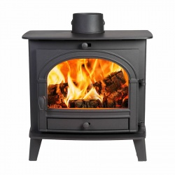 Parkray Consort 5 Slimline, Single Door Wood Burning Stove - 4.4kw nominal