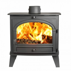Parkray Consort 9 Slimline, Single Door Wood Burning Stove - 4.9kw nominal (4.5 > 8kw to room)