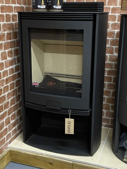 Di Lusso R5 Euro 3 > 13kw Freestanding Wood Burning Stove - Curved Sides - NEW / EX SHOP DISPLAY