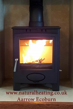 Aarrow Ecoburn Plus 5 Multi Fuel and Wood Burning Stove - 4.9kw Nominal, DEFRA Exempt