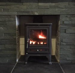 Firebird Cast Iron Multi Fuel Stove - 6kw max (3 > 5kw to room) SALE STOCK