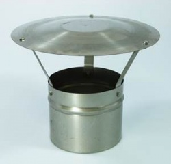 Rain Cap Cowl (Top Insert Required) - 5 inch / 125mm - for Flexible Flue Chimney Liner