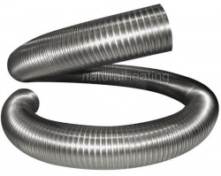 1000mm length, 5 inch / 125mm Flexible Chimney Liner (Stainless Steel 904SS) 25 yr Warranty