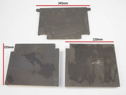 Replacement Cast Iron Lining Panel Set (both side panels and back panel) for Harvester Multi Fuel Stove
