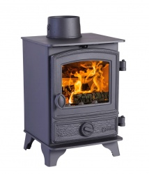 Hunter Hawk 3 Multi Fuel and Wood Burning Stove - 4.2kw nominal - Traditional Door