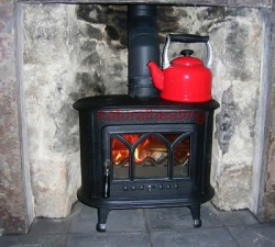 Ladybird Cast Iron Multi Fuel Stove and Wood Burning Stove - 5kw max (2 > 5kw to room)