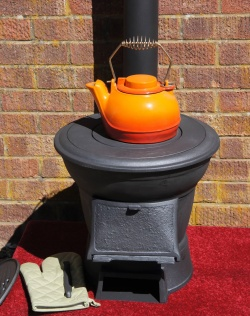 Logger Cast Iron Portable Patio Garden Heater Bbq Chiminea Outdoor Burner / Suit Yurts