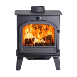 Cleanburn Lovenholm Single Door Wood Burning Stove - 4.6kw Nominal (3 > 5kw output range)