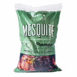 Traeger MESQUITE Hardwood Pellets (20lb bag) for Wood Fired Pellet Grills / Smokers