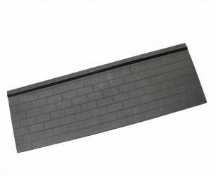 LARGE Modifiable Cast Iron Stove Lining Panel - 600 x 200mm approx (suits Warm King, King Fire, Best Fire)