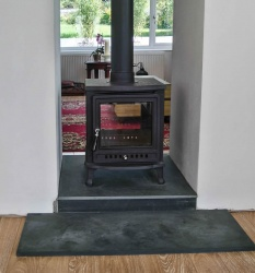 Nuri DOUBLE SIDED Multi fuel / Wood Burning Cast Iron Stove 8kw max (4 > 6.5kw to room)