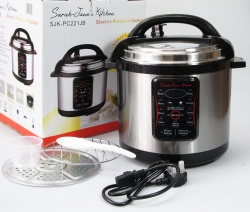 6Ltr Electric Multi Function Pressure Cooker / Rice Steamer Pot (Stainless Steel Body) - BRAND NEW / CLEARANCE