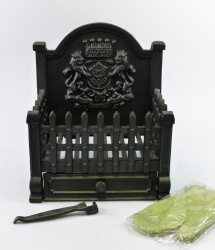Royal Standard Cast Iron Fire Basket / Dog Grate - 15 inches wide