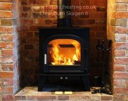 Cleanburn Skagen 6 Multi Fuel and Wood Burning Stove - 6kw nominal, 5 > 9kw output range