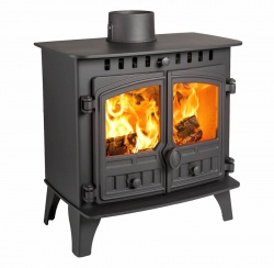 Hunter Herald Slimline 5 Wood Burning Stove - Double Door  4.4kw nom - SALE STOCK
