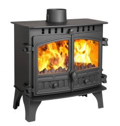 Hunter Herald Slimline 8 Multi Fuel Stove - Double Door - 5kw nom -  DEFRA Exempt SALE STOCK