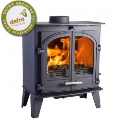 CLEARANCE - BRAND NEW, EX SHOP DISPLAY - Cleanburn Sonderskoven Traditional Multi Fuel Stove, Double Door - 7-10kw
