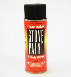 High Temperature Stove Paint - Satin Black - Thurmalox 1200 Deg F - Aerosol Can