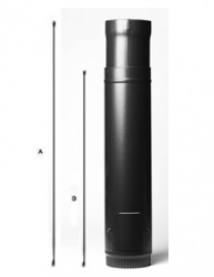 600 > 900mm Adjustable WITH DOOR  - 7 inch / 175mm dia -Vitreous Enamel Flue Pipe