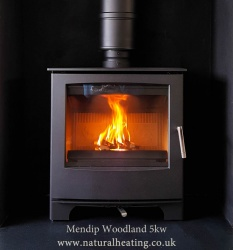 Mendip Woodland + LOGSTORE Multi Fuel Stove - DEFRA 4.5kw ECO DESIGN Ready